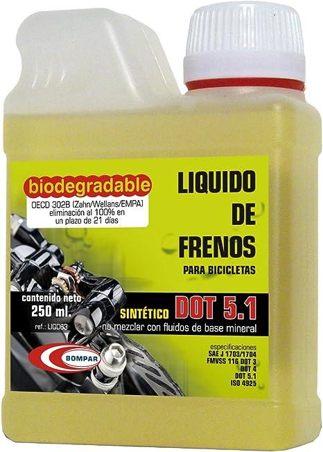 BOMPAR Dot 5.1 Liquido de Frenos, Unisex Adulto, Amarillo, 250 ml ...