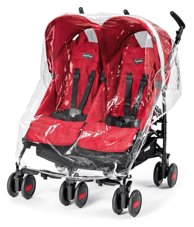 transparent Aria Shopper Twin Peg Perego YPMTASTREG Regenschutz f/ür Pliko Mini Twin
