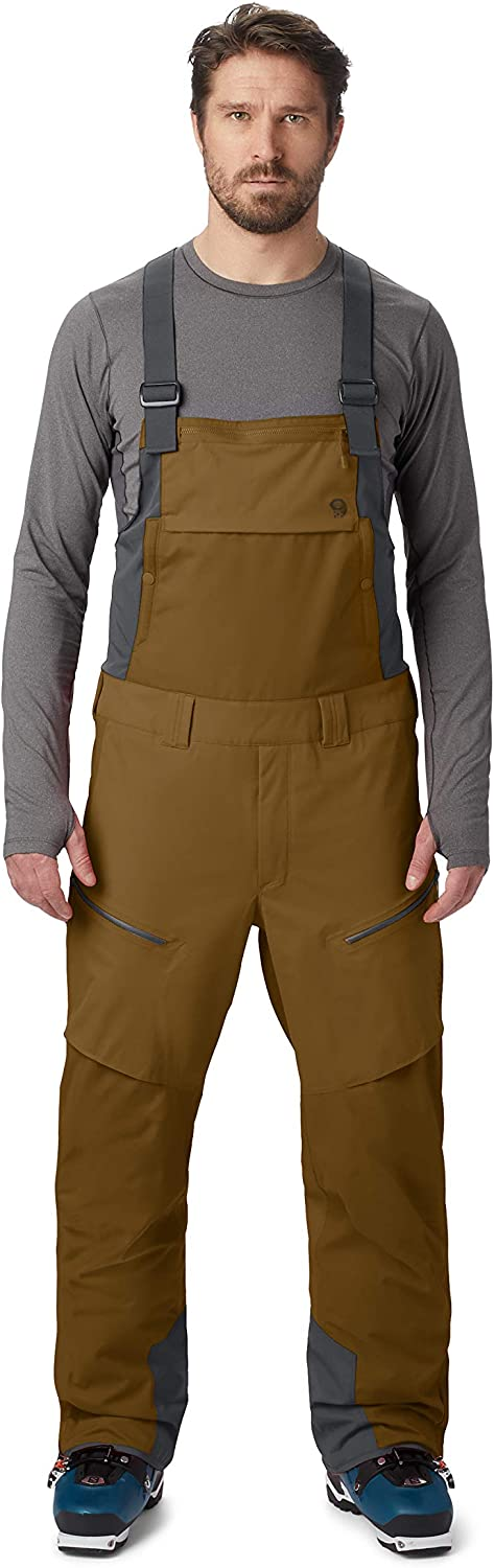 Mountain Hardwear FireFall Bib Pant Men's Insulated Bib Overalls for Skiing and Outdoor Recreation : Clothing