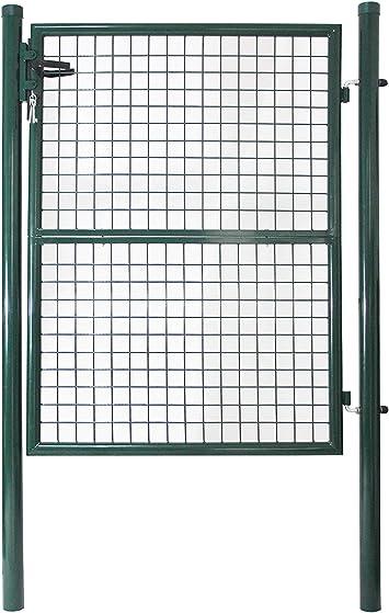 LARS360 100 x 100 cm puerta de jardín puerta doble puerta de jardín puerta de valla puerta de jardín incluye Cerradura para puerta, puerta, puerta, valla de jardín, puerta de valla: Amazon.es: