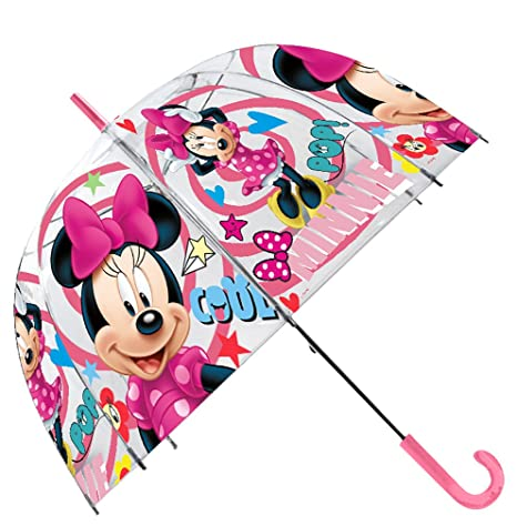 Kids Minnie Paraguas Clásico, 70 cm, Rosa