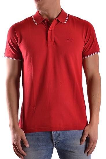Armani Jeans Hombre 06M2bbtf4 Rojo Algodon Polo: Amazon.es: Ropa y ...