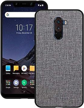 Aidinar Xiaomi Pocophone F1 Funda, Xiaomi Pocophone F1 Funda para teléfono Móvil con Funda de Tela, Todo Incluido Funda Resistente a Roturas, Funda de Silicona, para Xiaomi Pocophone F1(Gris): Amazon.es: Electrónica