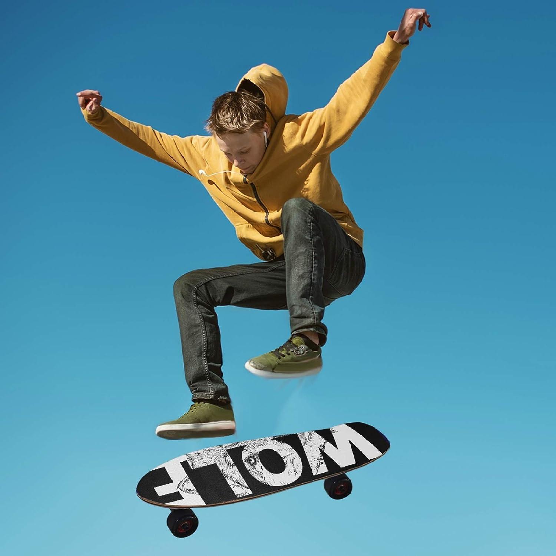 9.1x33.1 Inch Glaphy Cartoon Whales Sunflowers Animal Dog Skull Skateboard Deck Sandpaper Non-Slip Grip Tape Waterproof Longboard Griptape 1 Sheet