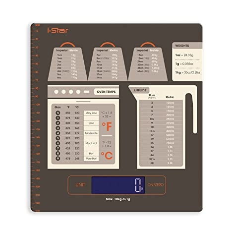 Amazon Digital Kitchen Food Scale With Conversion Chart And Lcd
