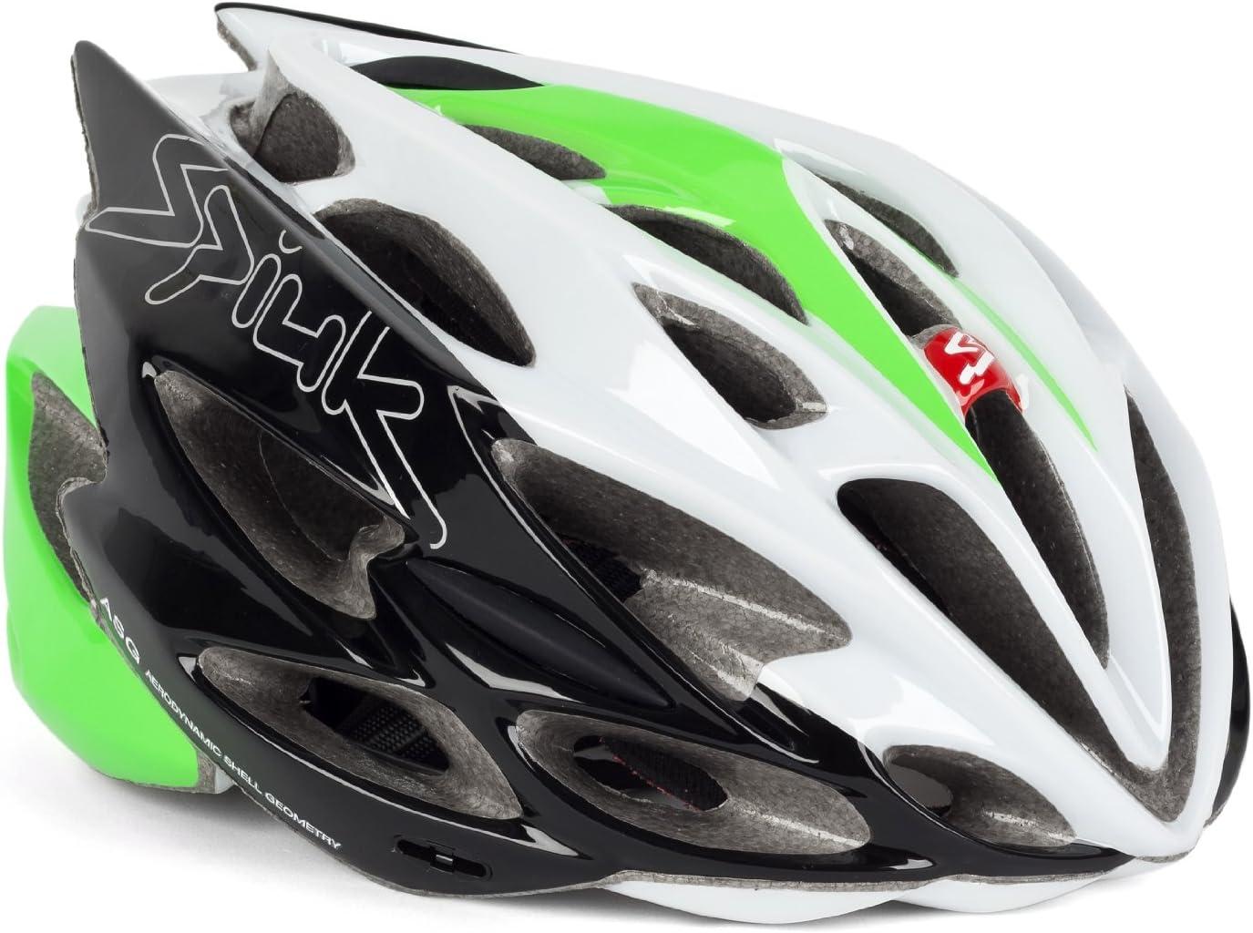 Spiuk Nexion - Casco de Ciclismo, Color Verde/Blanco/Negro, Talla 53-61: Amazon.es: Deportes y aire libre