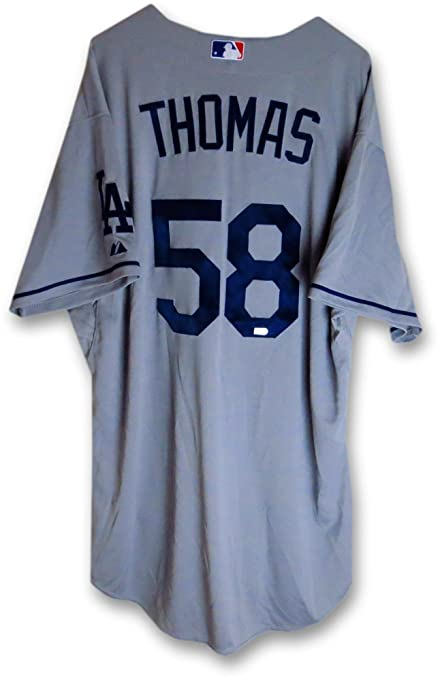 size 40 00151 ef5a1 Ian Thomas Team Issue Jersey Los Angeles Dodgers Road Gray ...