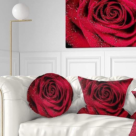 Almohada de pétalos de rosa roja, sexy, de 16 pulgadas, con ...