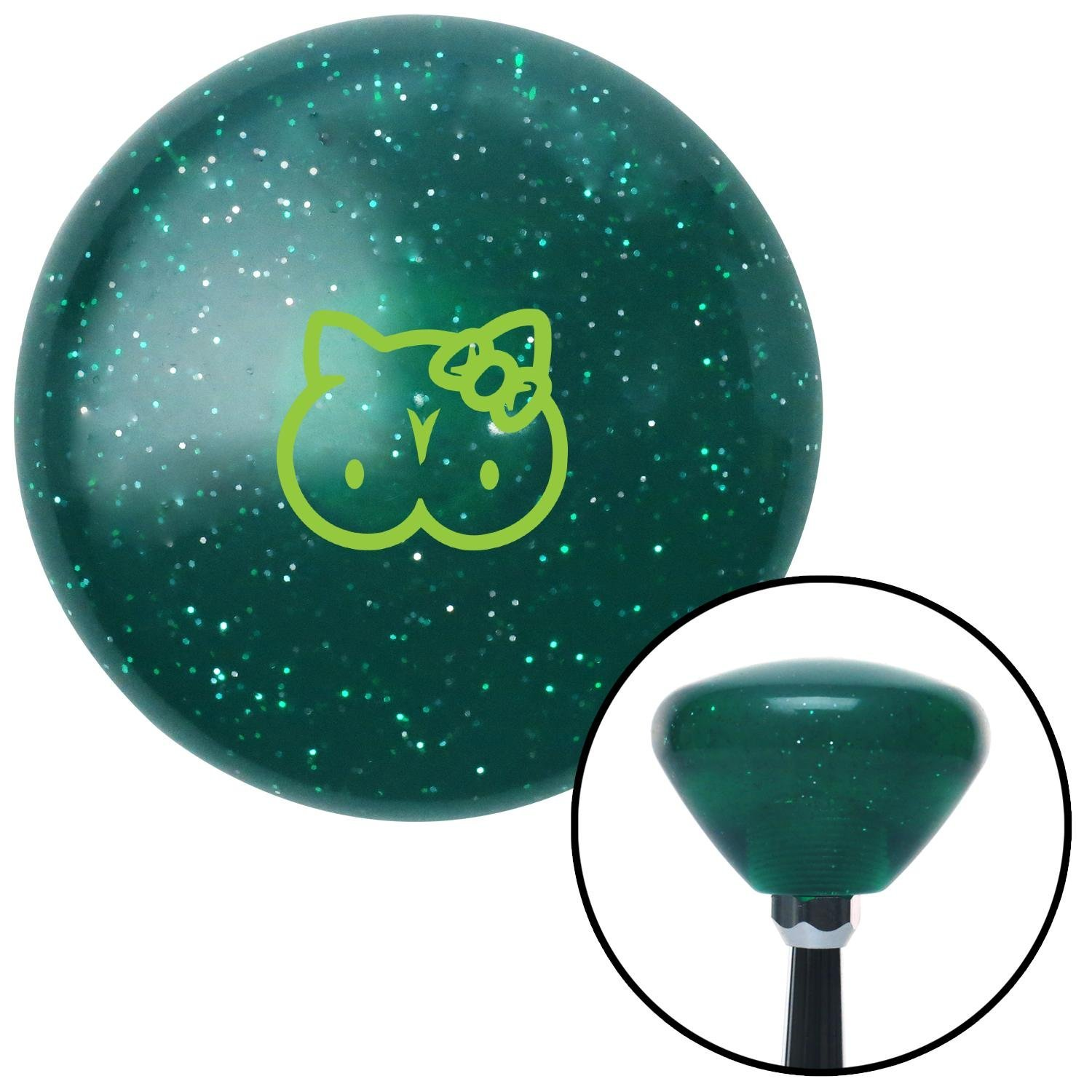 American Shifter 291602 Shift Knob Green Hello Titty Green Retro Metal Flake with M16 x 1.5 Insert