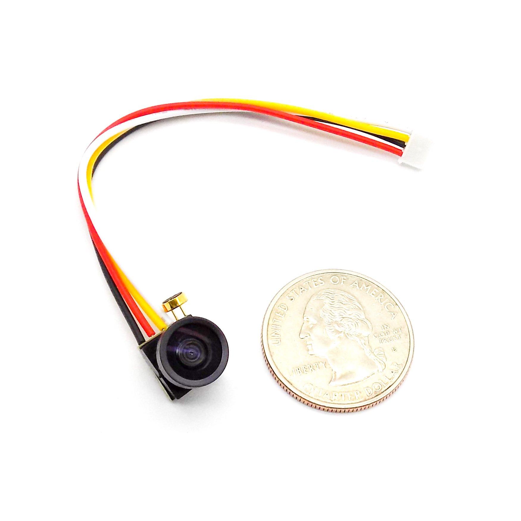 1g Micro 1000TVL FPV Camera 1/4 CMOS 2.8mm Lens 120° NTSC Micro Camera 3.3-5V