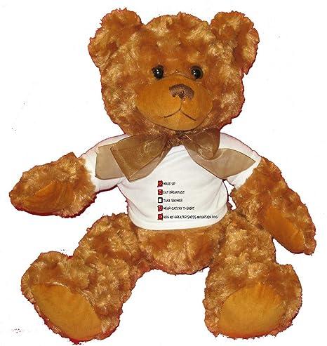 Amazon Com Hug My Greater Swiss Mountain Dog Checklist Plush Teddy