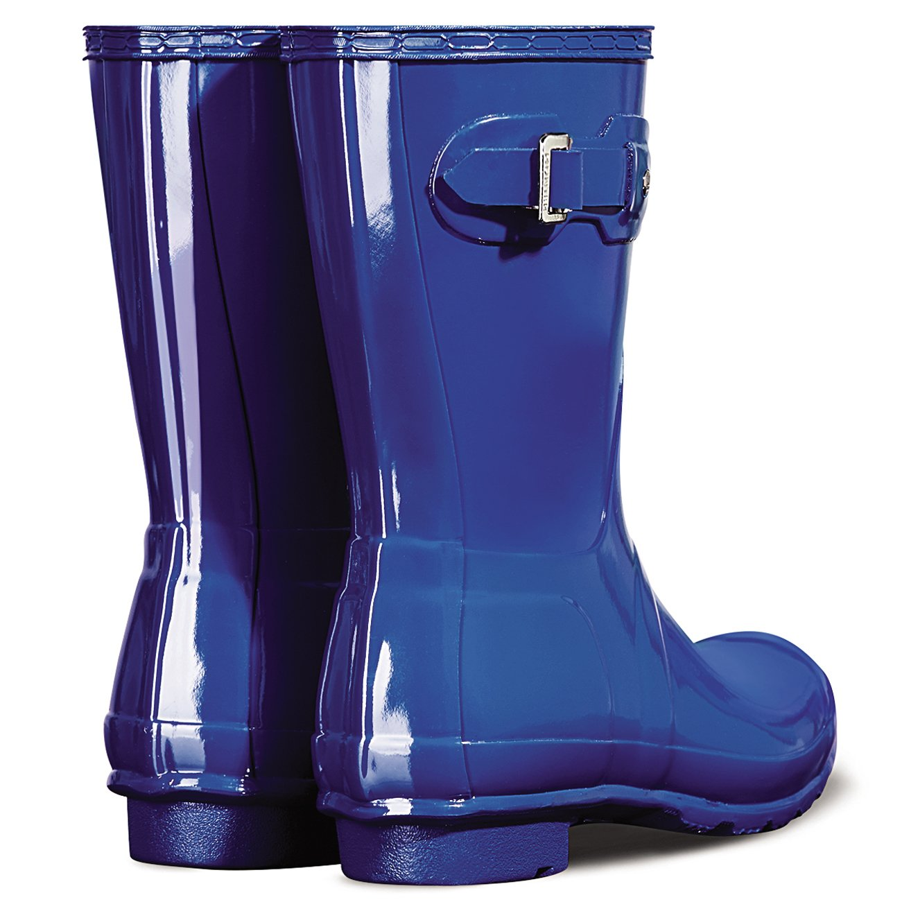 Women's Hunter Boots Original Short Gloss Snow Rain Boots Water Boots Unisex 5-10 B01JOTRSIY 5 B(M) US|Azure