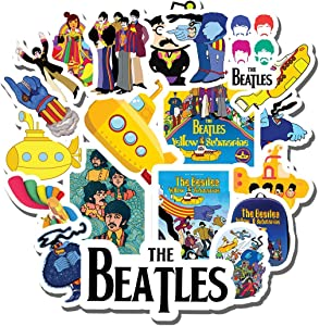 20 PCS Stickers Pack The Aesthetic Beatles Vinyl Yellow Colorful Submarine Waterproof for Water Bottle Laptop Scrapbooking Luggage Guitar Skateboard