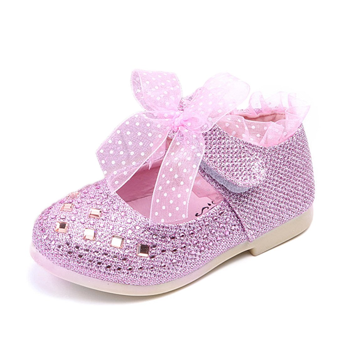 O&N Toddler Baby Girls Infant Princess Wedding Party Dress Shoes Ballet Flats Mary Janes