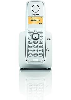 Gigaset A270 - Teléfono inalámbrico manos libres, gran pantalla iluminada, agenda 80 contactos, color blanco: Gigaset: Amazon.es: Electrónica