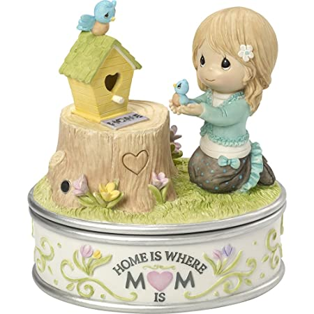Precious Moments, Home Is Where Mom Is, Resin Recordable Trinket Box, 164103