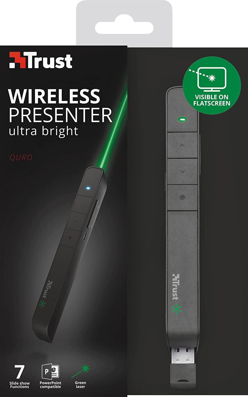 Nero Trust Quro Dispositivo per Presentazioni Wireless con Laser Verde
