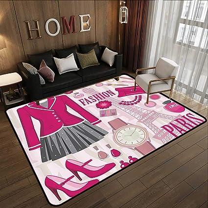 Amazon Com Kitchen Floor Mats Girly Decor Fashion Theme