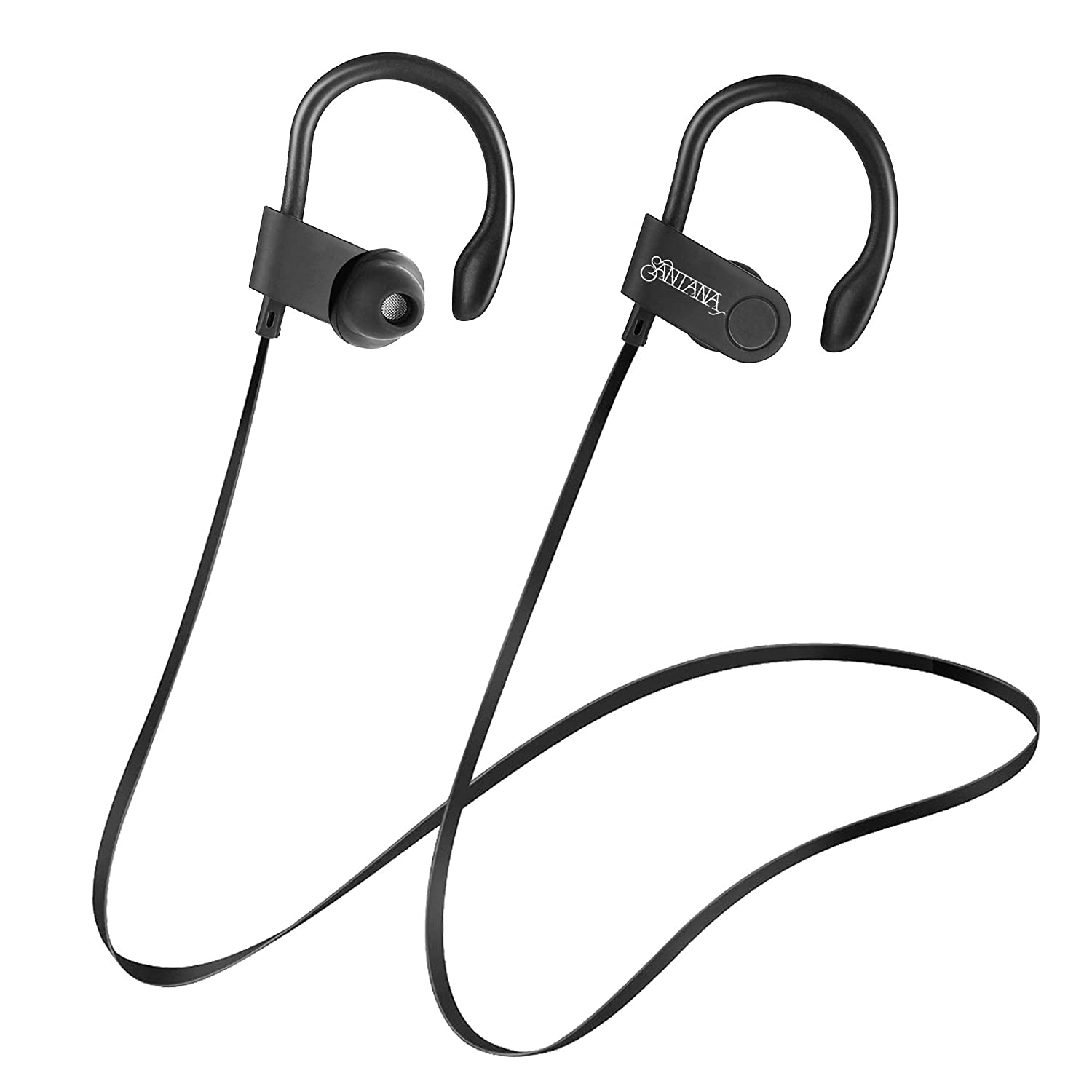 Rumba by Carlos Santana Wireless Sport Bluetooth Earbuds, Headphones IPX5 Waterproof, Hi-Fi HD Bass Stereo Sweatproof Earphones w Mic, Noise Cancelling Headset for Workouts, 6 HRS Playtime