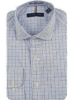✅NEW Tommy Hilfiger Men/'s Regular Fit Spread Collar Long Sleeve Dress Shirt VA