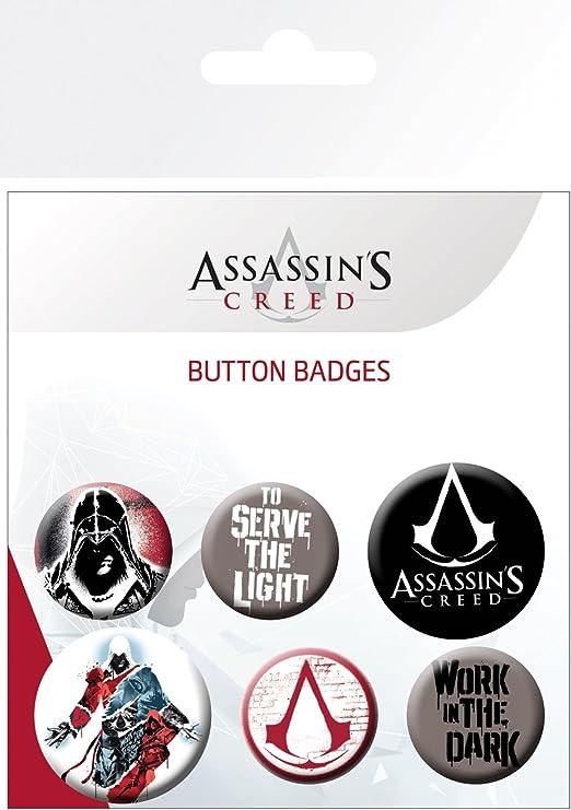 GB Eye Limited GB Eye LTD, Assassins Creed, Mix, Pack de Chapas, Metal, Multicolor, 14 x 0.3 x 10 cm: Amazon.es: Hogar