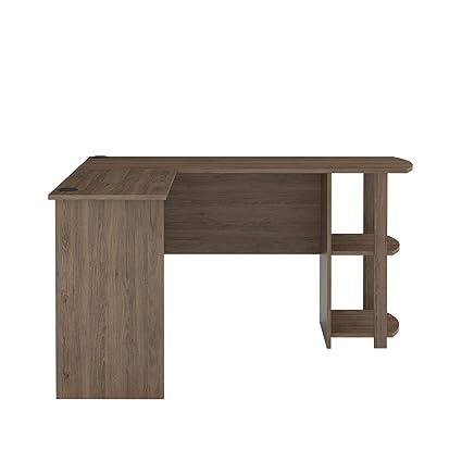 amazon com ameriwood home 9354333com dakota bookshelves rustic oak rh amazon com rustic l shaped office desk rustic l shaped desk with drawers