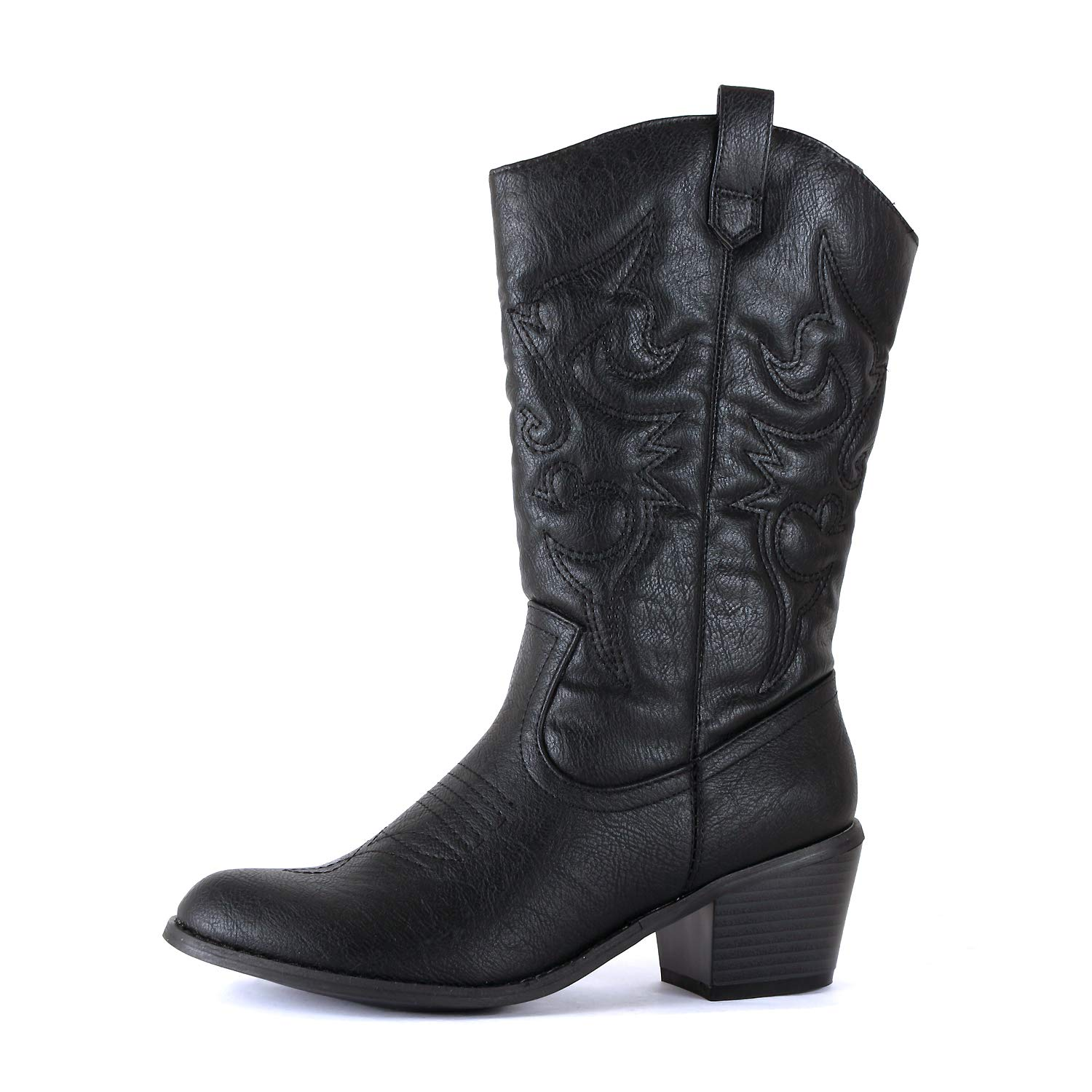 Black Pu West Blvd Miami Cowboy Western Boots