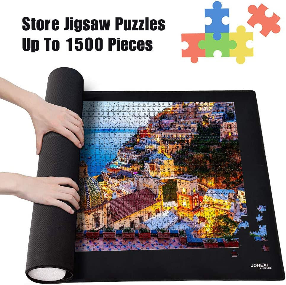 Toys and Hobbies Big Sales Black 24x46 inch Puzzle Storage Mat Roll Up Puzzle For Up To 1500 PCS HINK Jigsaws Puzzle Toy