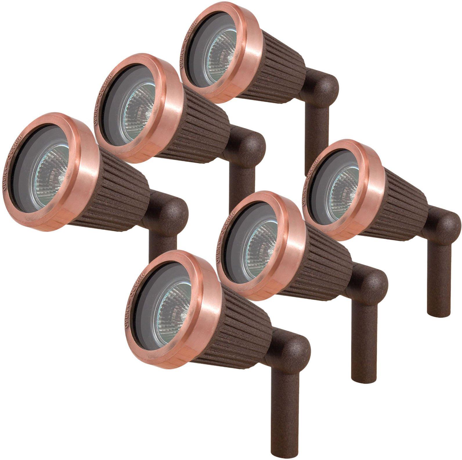 Paradise GL22724 Low Voltage Cast Aluminum 20W Spotlight (Copper, 6 Pack)