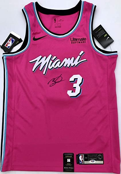 low priced 0ba95 d9ac2 Dwyane Wade #3 Autographed Signed Memorabilia Miami Heat ...