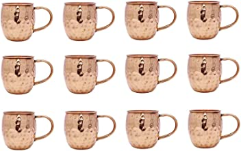 1 taza de cobre de par Vajilla Utensilios de cocina accesorios de la barra Moscow Mule Vasos Copa