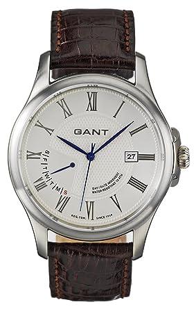 GANT West-Creek W10372 - Reloj de caballero de cuarzo, correa de piel color marrón: Amazon.es: Relojes