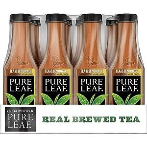 Pure Leaf Iced Tea, Tea and Lemonade, Real Brewed Black Tea, 18.5 Fl. Oz Bottles (Pack of 12)