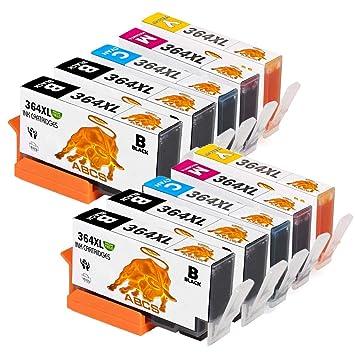 Abcs Printing Reemplazo para HP 364XL 364 XL Cartuchos de tinta Alta Capacidad para HP Photosmart 5520 5510 5522 5524 6520 7510 7520, HP OfficeJet ...