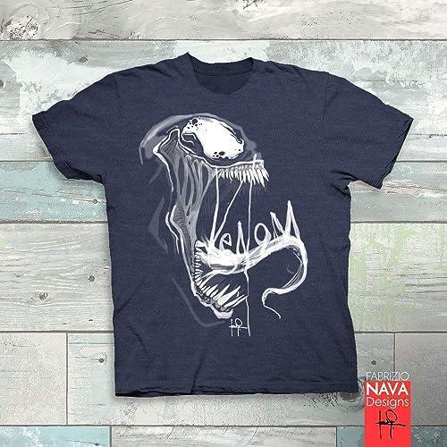 cea79d1501f8af Image Unavailable. Image not available for. Color: Venom Tongue Men's T-shirt  Marvel Spiderman ...