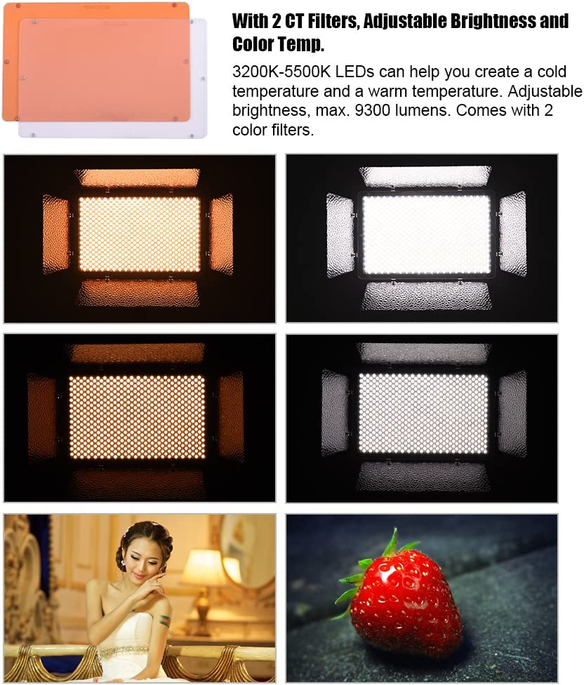 Yongnuo Yn1200 Led Video Light 3200 K 5500 K Camera Photo