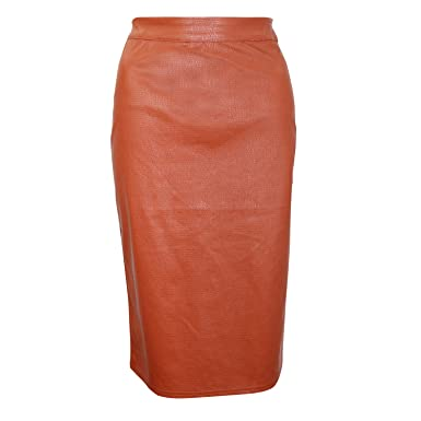 d51740897fa2c9 Tala by Rio Ritz Womens Faux Leather Skirt Rust Small, Medium, Large -  Brown -: Amazon.co.uk: Clothing