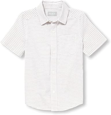 The Childrens Place Baby Boys Short Sleeve Button-up Shirt