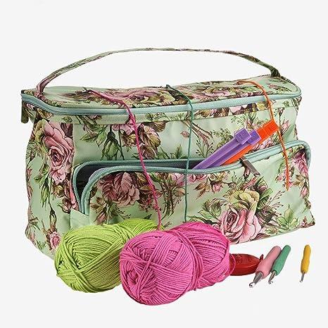 GOODGDN Sac de Rangement pour Fil /à Tricoter Aiguilles,Aiguille Organisation Package pour Stocker La Laine /à La Main Fil Crochet/ée Outil De Couture De Laine.