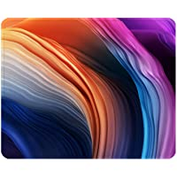 ITNRSIIET Gaming Mouse Pad with Stitched Edges, Premium-Textured Mouse Mat Pad, Non-Slip Rubber Base Mousepad for Laptop, Computer & PC, 10.2×8.3×0.12 inches, Abstract Color Art