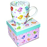 Divinity Boutique Inspirational Ceramic Mug with Birds-Psalm 103:5, He Fills My Life With Good Things, Multicolor, One Size