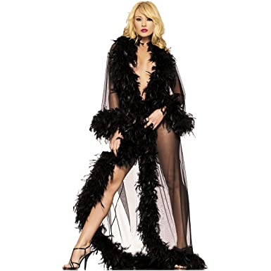008ebfb814 Glamour Robe Adult Lingerie Black - One Size