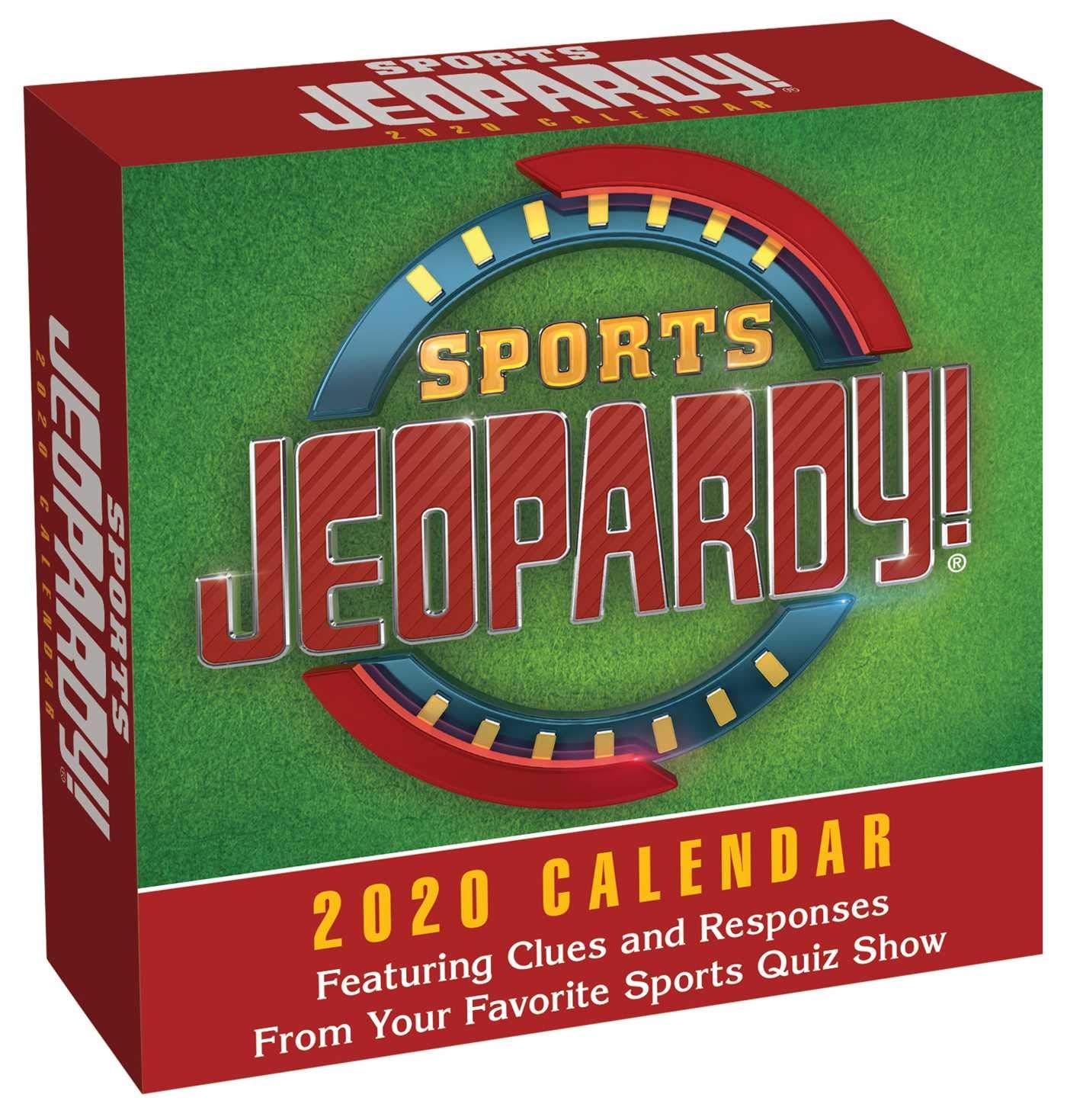 Sports Calendar 2020 Sports Jeopardy! 2020 Day to Day Calendar: Sony: 9781449498542