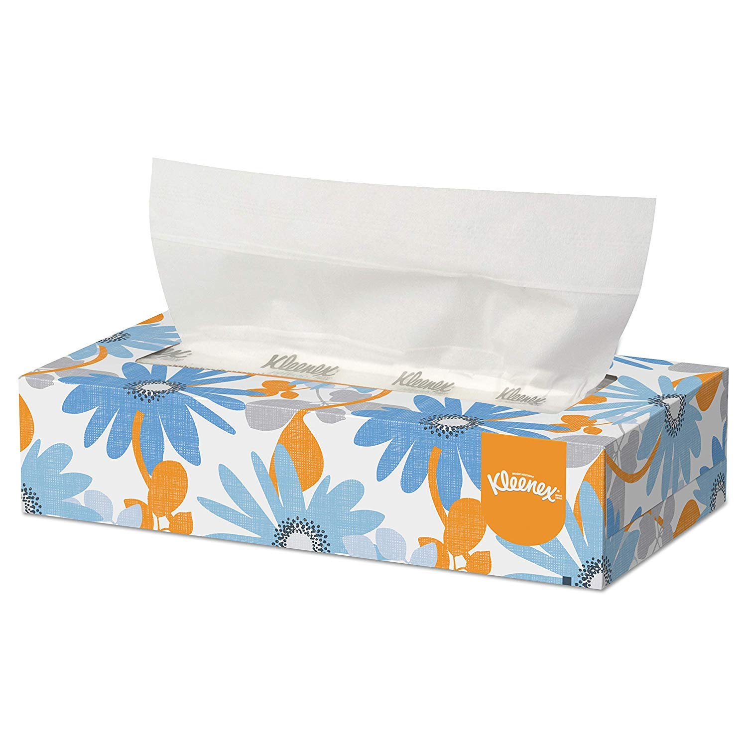 Kleenex Professional Facial Tissue for Business (03076), Flat Tissue Boxes, 24 Boxes/Convenience Case, 125 Tissues/Box
