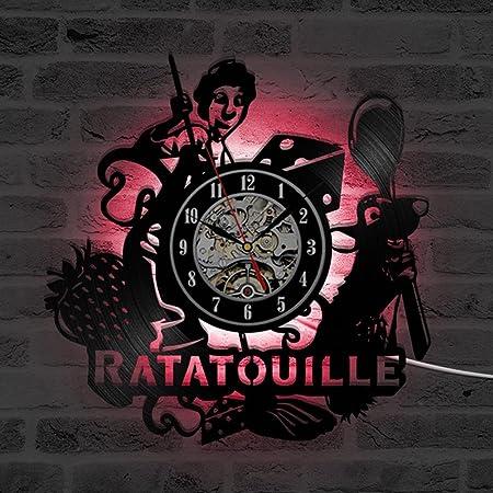 Ratatouille dibujos animados Tema 3d récord Reloj habitación de ...