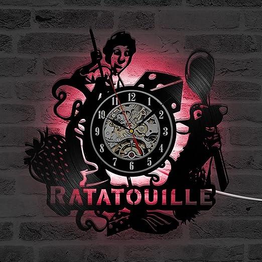 Ratatouille dibujos animados Tema 3d récord Reloj habitación ...