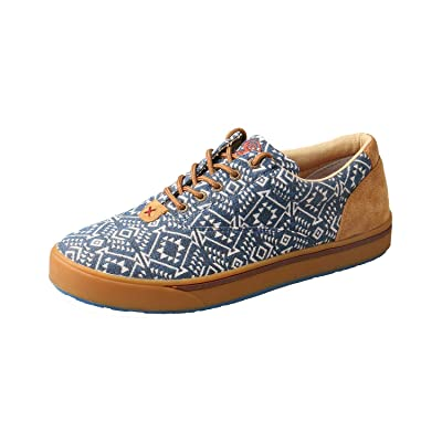 Twisted X Men's Cowboy Style Casual Hooey Loper Shoes, Navy/White Print, 11 M: Sports & Outdoors