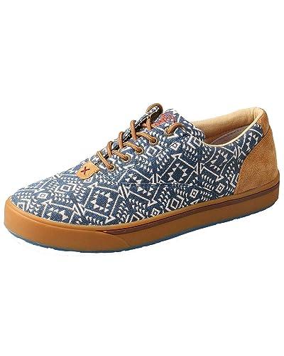 b9e3d706594 Twisted X Men s Hooey Lopers Shoes Round Toe Blue 7.5 D