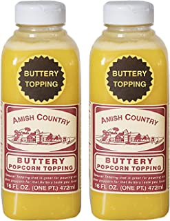 product image for Amish Country Popcorn | Buttery Popcorn Topping - 2 - 16 oz Bottles | Old Fashioned with Recipe Guide (2 - 16 oz Bottles)