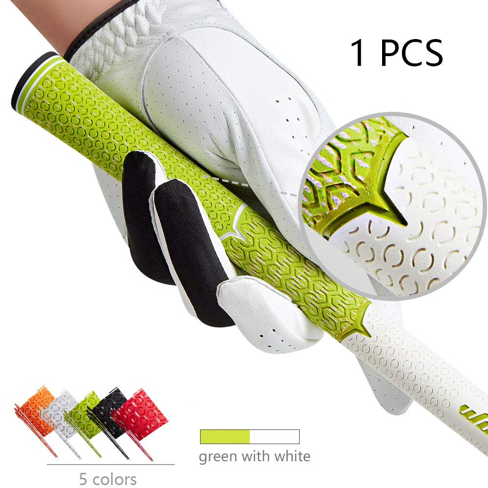 wosofe Golf Grips-Golf Club Grips for Men Golf Iron Grip Set Soft Non-Slip Wear Resistant Rubber Golf Grips (Green/1pcs) by wosofe (Image #1)